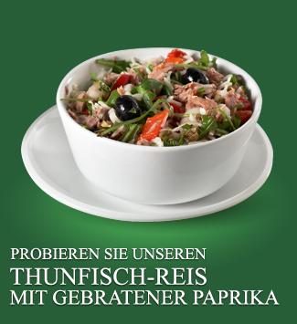 PROBIEREN SIE UNSEREN  THUNFISCH-REIS MIT GEBRATENER PAPRIKA